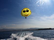 parasailing boat driver at Latchi Watersports Centre