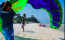 Experienced kite instructors  at North Kiteboarding Club