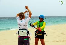 female IKO instructor at Atlantic Star Nautical Center