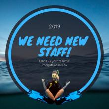 Polish speaking staff for diving centre at Delphinus 5 star diving center